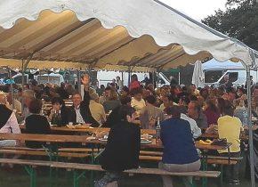 Marché des producteurs de Pays à Biganos avec les vins du château Haut de Lerm