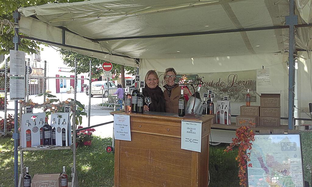 Marché de La Jarrie avec les vins du château Haut de Lerm
